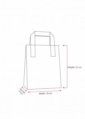 Fuchsia Paper Carrier Bags With External Taped Handles SOS