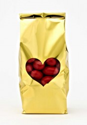 - Gold Heart Window Metalized Printed Small Bag (1)