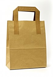 - Kraft Carrier Bags With External Taped Handles SOS
